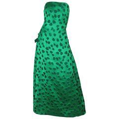 Scaasi Strapless Silk Gown