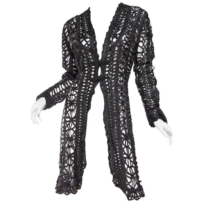1890s Belle Epoch Silk Ribbon Lace Jacket