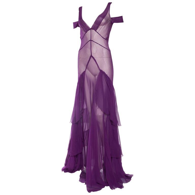 1930s Style Sheer Chiffon Gown at 1stdibs 9ca1bc495