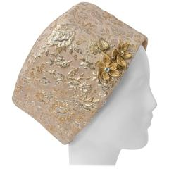 60s Brocade Structured Turban
