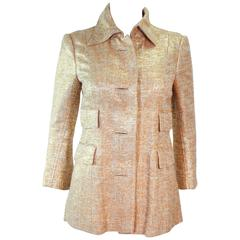 DOLCE AND GABBANA Gold Metallic Jacket Size 40