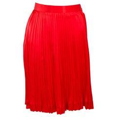 CHRISTIAN DIOR Vintage Silk Pleated Skirt Size 4
