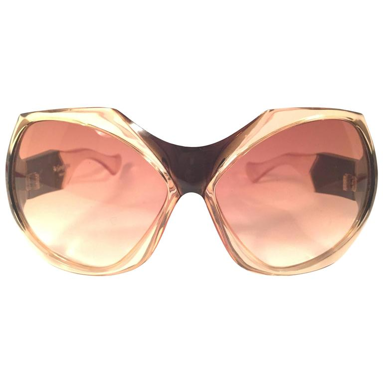 New Vintage Yves Saint Laurent YSL Mask Shield 1970 France Sunglasses For Sale