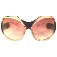 New Vintage Yves Saint Laurent YSL Mask Shield 1970 France Sunglasses