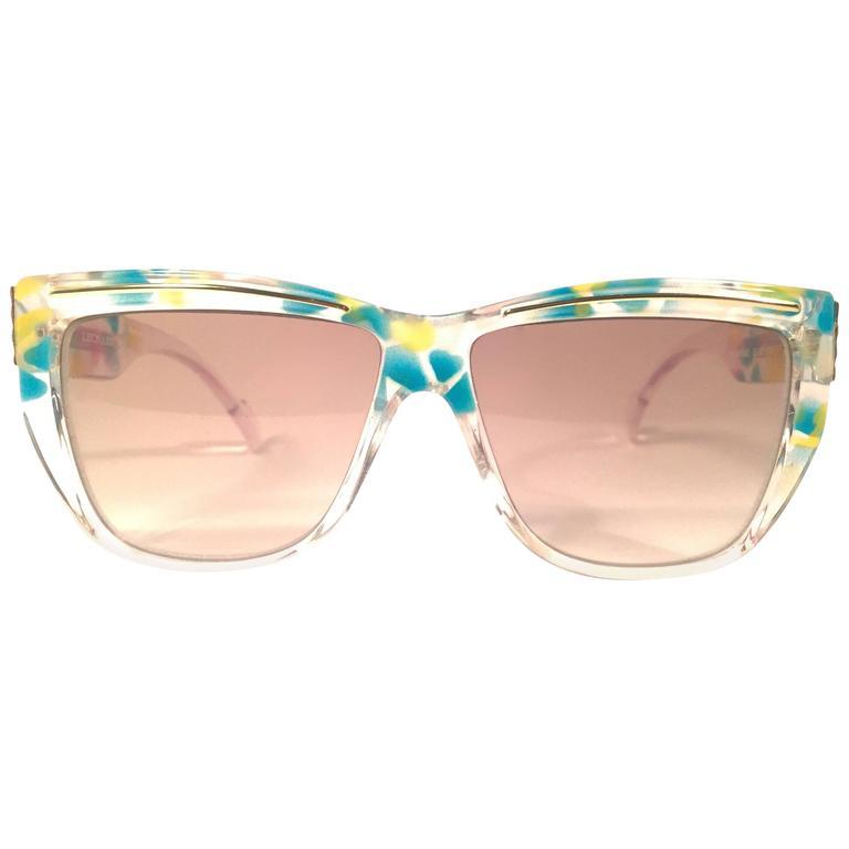 New Vintage Leonard LE110 Translucent Mosaic 1970's France Sunglasses