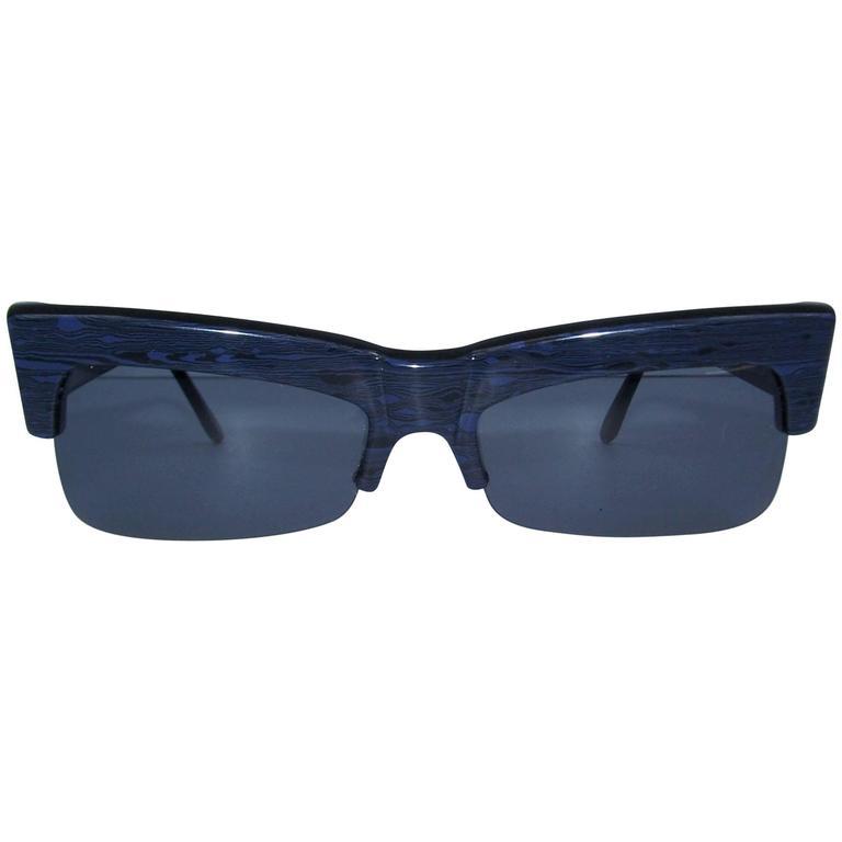Futuristic 1980's Alain Mikli For Claude Montana Marbleized Sunglasses