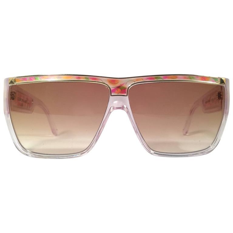 New Vintage Leonard LE1309 Translucent Mosaic 1970's France Sunglasses