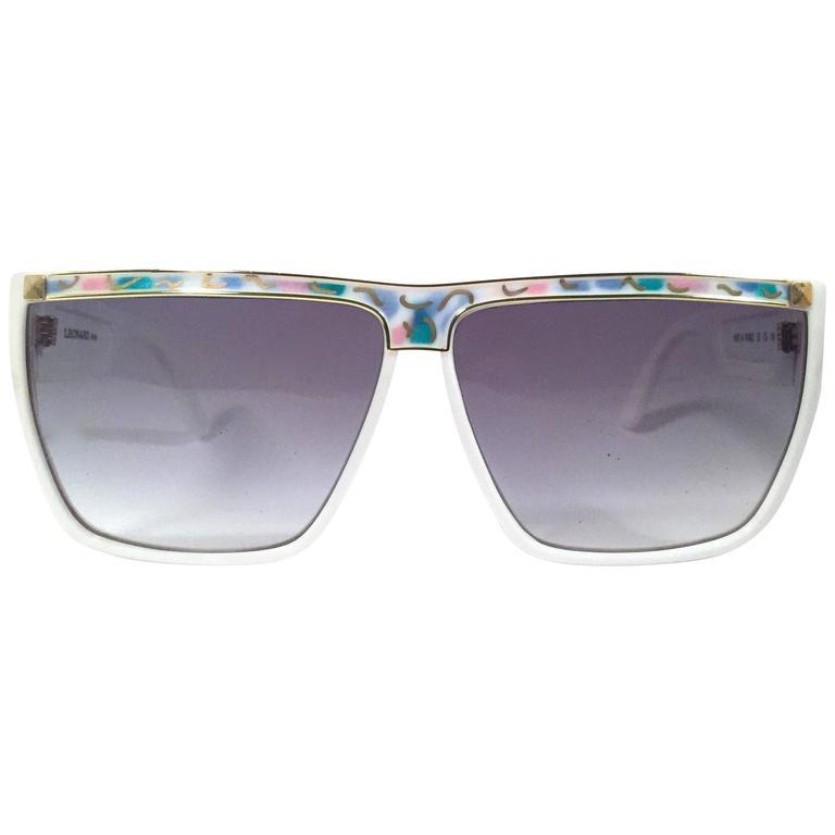New Vintage Leonard LE1306 Translucent Mosaic 1970's France Sunglasses