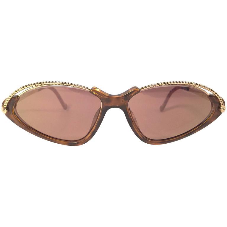 New Vintage Christian Lacroix Cat Eye 7346 1980's France Sunglasses 1