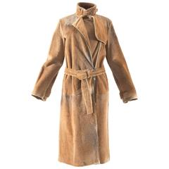 Tom Ford for Yves Saint Laurent 2002 oversized sheared fur patchwork coat