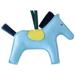 Hermes Rodeo MM Blue Celeste, Lime, Malachite Bag Charm for Kelly and Birkin