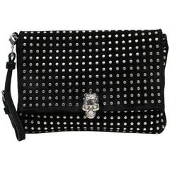 Alexander McQueen Black Suede Clutch Cross Body Bag