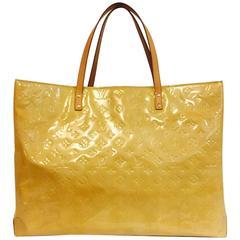 Louis Vuitton Jaune Passion Monogram Vernis Reade GM Tote Bag