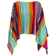 Magnificent Missoni Multi Color Knit Poncho