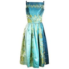 Burke Amey Ombre Brocade  Dress circa 1960s