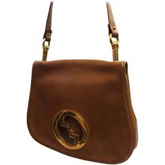 1970's Gucci Whisky Brown Leather Logo Purse