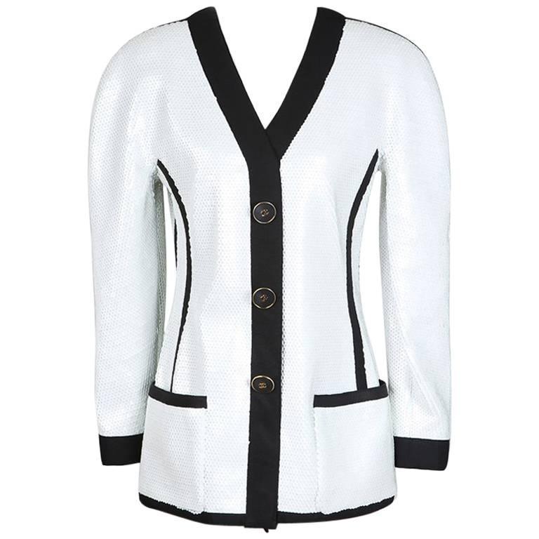 Chanel Sequin Jacket with Nylon Trim circa 1990s