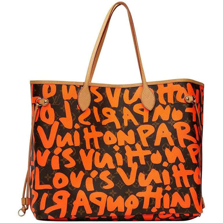 2009 Louis Vuitton Canvas Stephen Sprouse Orange Graffiti Monogram Neverfull  GM For Sale 4f35a945be