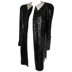 black and white sequin tuxedo gala coat