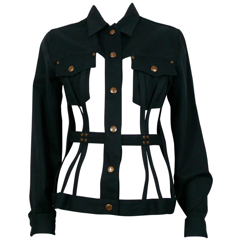 Jean Paul Gaultier Vintage Iconic Black Cage Jacket 1
