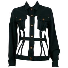 Jean Paul Gaultier Vintage Iconic Black Cage Jacket