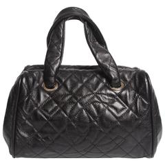 Chanel Top Handle Shopper Bag - black caviar leather