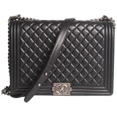 Chanel Boy Bag Large - black leather