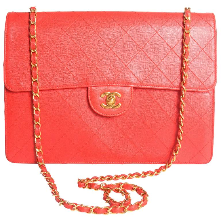 1997 Chanel Jumbo Flap Bag Vintage - red caviar leather -crossbody For Sale 873951529d820