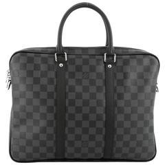 Louis Vuitton Porte-Documents Voyages Bag Damier Graphite PM