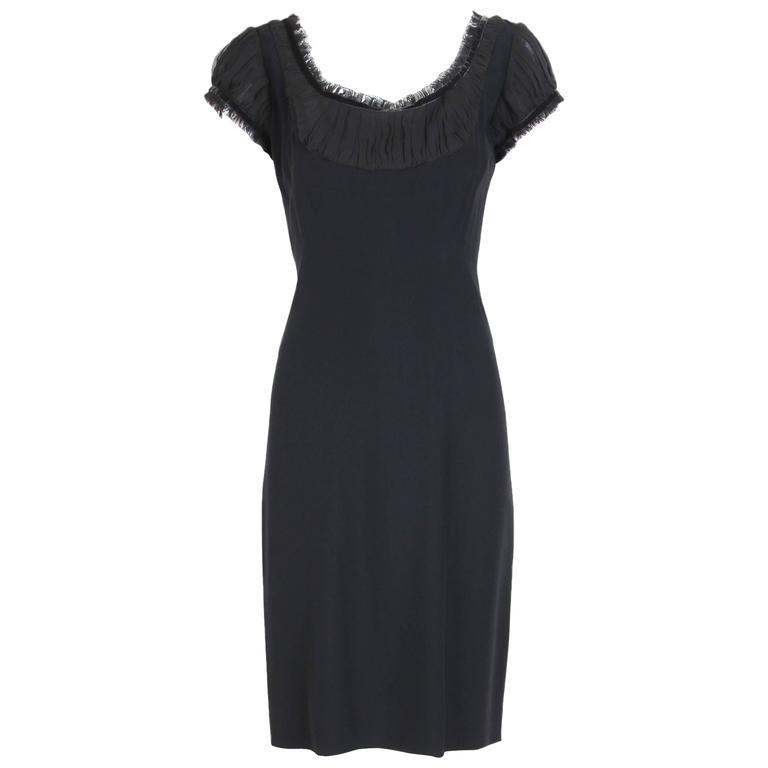 2010 Alexander McQueen Black Cocktail Dress  For Sale