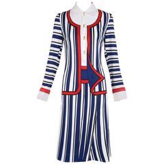 1970's Roberta di Camerino Trompe L'Oeil Dress