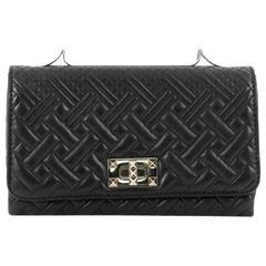 Valentino Girello Shoulder Bag Quilted Leather Medium