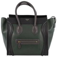 Celine Bicolor Luggage Handbag Leather Mini