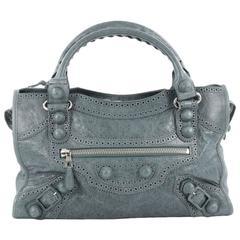 Balenciaga City Giant Brogues Handbag Leather Medium
