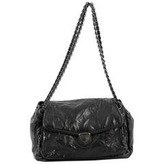 Prada Pushlock Chain Flap Shoulder Bag Nappa Antique Medium
