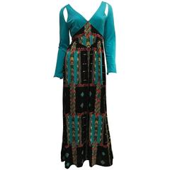Oleg Cassini Maxi Dress - Rare - Early 70's
