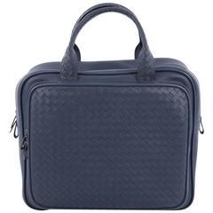 Bottega Veneta Pocket Travel Bag Leather with Intrecciato Small