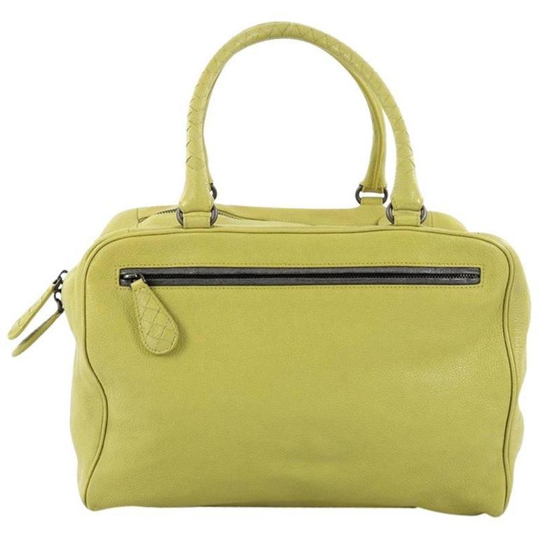 1stdibs Bottega Veneta Irish Green Intrecciato Nappa Leather Handbag, 2008