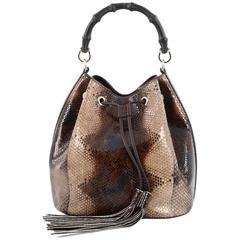 Gucci Miss Bamboo Bucket Bag Python Medium