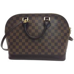 Louis Vuitton Alma Damier Extra Long Crossbody Strap Handbag