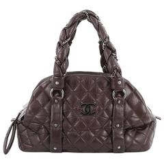 Chanel Lady Braid CC Bowler Bag Quilted Lambskin