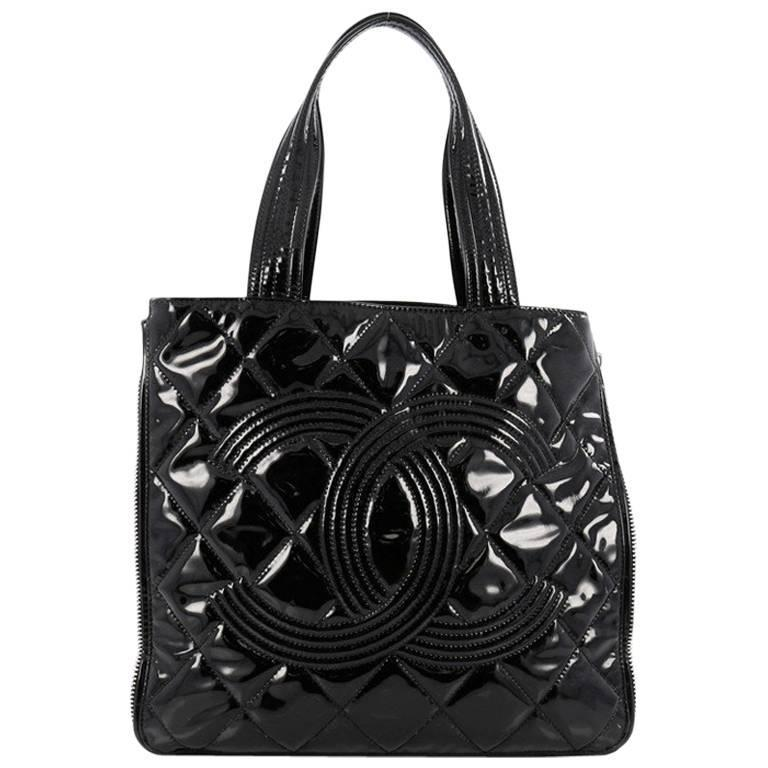 1377409618d8 Chanel Expandable CC Shopping Tote Quilted Patent Medium at 1stdibs