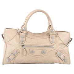 Balenciaga Part Time Giant Studs Handbag Leather