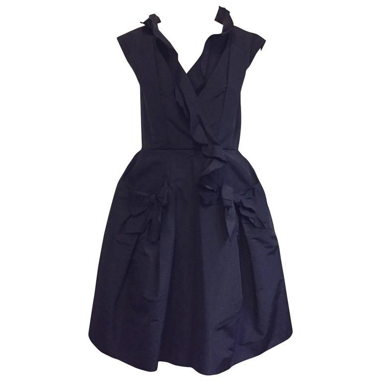 Oscar de la Renta Silk Ruffled Dress-Ultra Feminine!