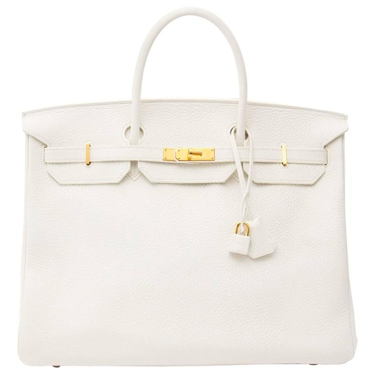 Hermes Birkin 40 Clemence Taurillon GHW For Sale