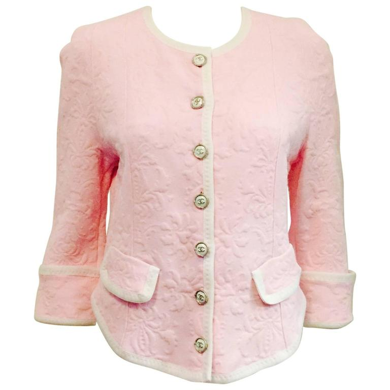 Chanel Chic Summer Pink Camelia Jacket