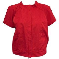 Modern and trendy Lida Baday short sleeve silk jacket