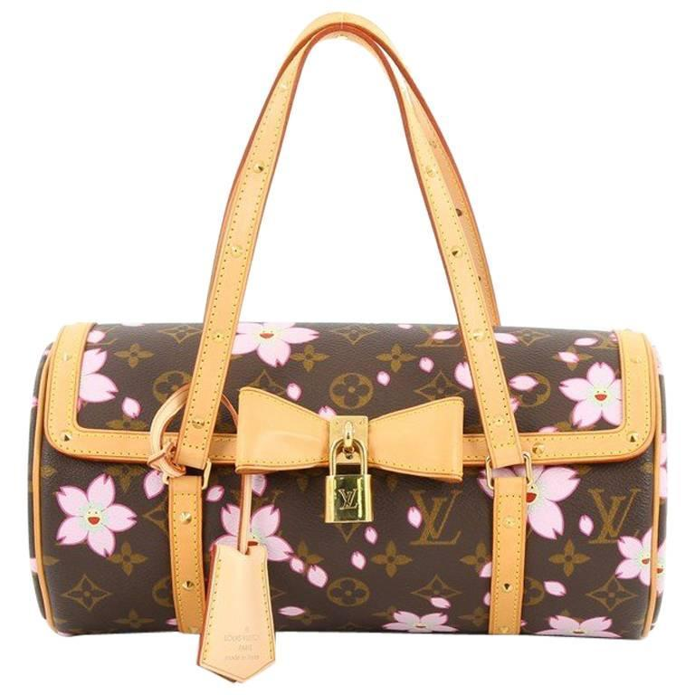 a488ac0f1d04 Louis Vuitton Papillon Handbag Limited Edition Cherry Blossom At 1stdibs