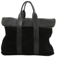 3.1 Phillip Lim 31 Hour Fold-Over Tote Shearling and Leather