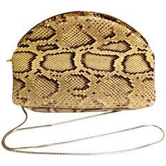 Judith Leiber Python Snakeskin Evening Bag